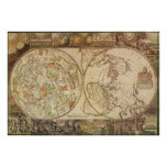 Vintage Astronomy, Celestial Planisphere Map Posters