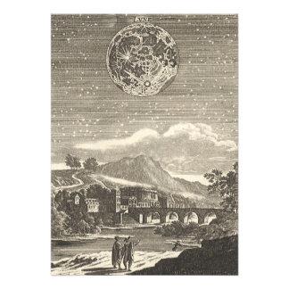 Vintage Astronomy Celestial Renaissance Moon Stars Custom Announcements