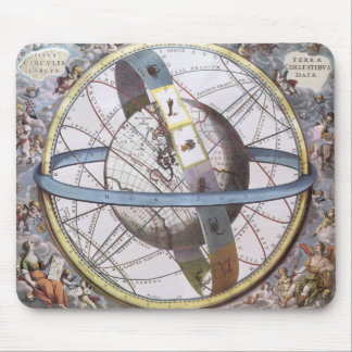 Vintage Astronomy, Celestial Zodiac Planisphere Mouse Pad