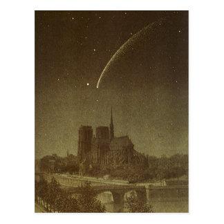 Vintage Astronomy, Donati Comet over Paris, 1858 Postcard