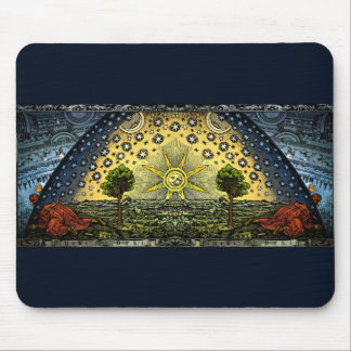 Vintage Astronomy Flammarion Woodcut Mouse Pad