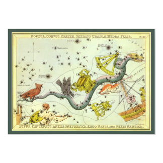 Vintage Astronomy, Hydra Snake Constellation Stars Invitations