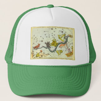 Vintage Astronomy, Hydra Snake Constellation Stars Trucker Hat