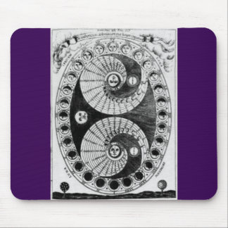 Vintage Astronomy Kircher Lunation Mouse Pad