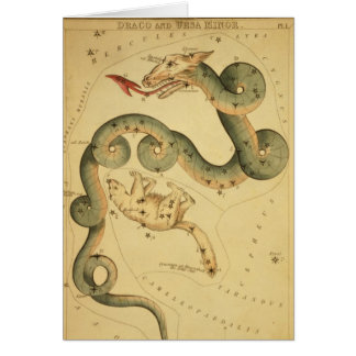 Vintage astronomy print Draco & Ursa Minor Greeting Card