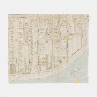 Vintage Atlantic City NJ Map (1896) Fleece Blanket
