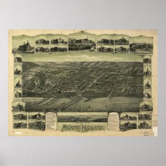 Vintage Atlantic Highlands NJ Map (1894) Poster
