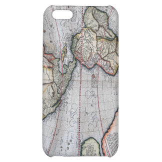 Vintage Atlas World Map Cover For iPhone 5C