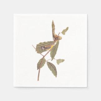 Vintage Audubon Magnolia Warbler Bird Paper Napkin
