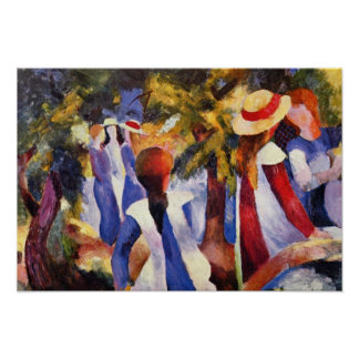 Vintage August Macke Girl In The Countryside Poster