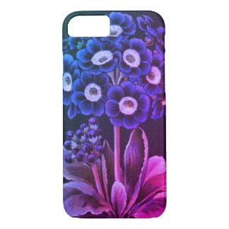 Vintage auricula flower floral art pink phone case