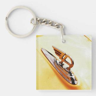 vintage austin car motif key ring