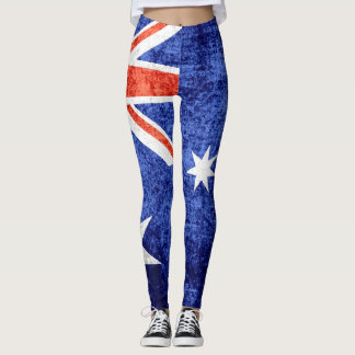 Vintage Australia Flag #2 Leggings
