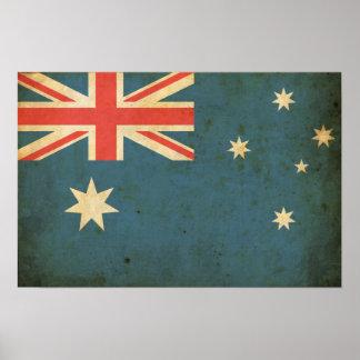 Vintage Australia Flag Poster