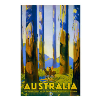 Vintage Australia Marysville Victoria Poster
