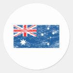 Vintage Australia Round Sticker