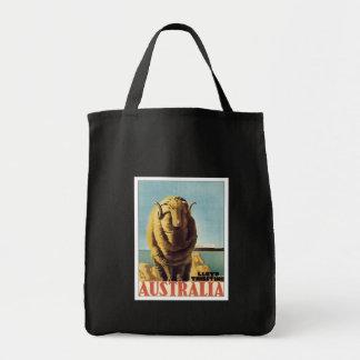 Vintage Australia Ship Line Grocery Tote Bag