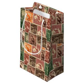 Vintage Australian Animal Postage Stamp Collection Small Gift Bag
