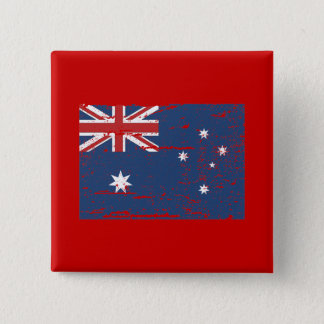 Vintage Australian Flag 15 Cm Square Badge
