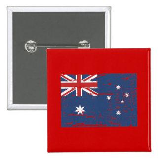 Vintage Australian Flag 15 Cm Square Badge