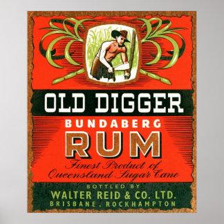 Vintage Australian Rum Advertising. Poster