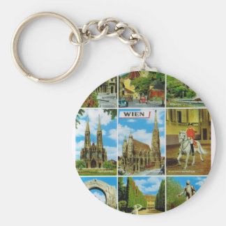 Vintage Austria, Wien, Vienna, Multiview Key Ring