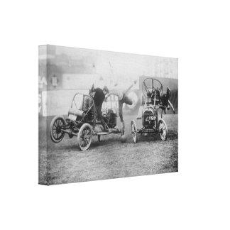 "Vintage ""Auto Polo"" Sports Car Motorsports Canvas Print"