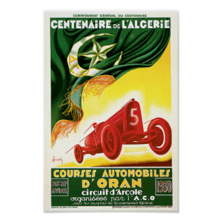 Vintage Automobile Race Poster