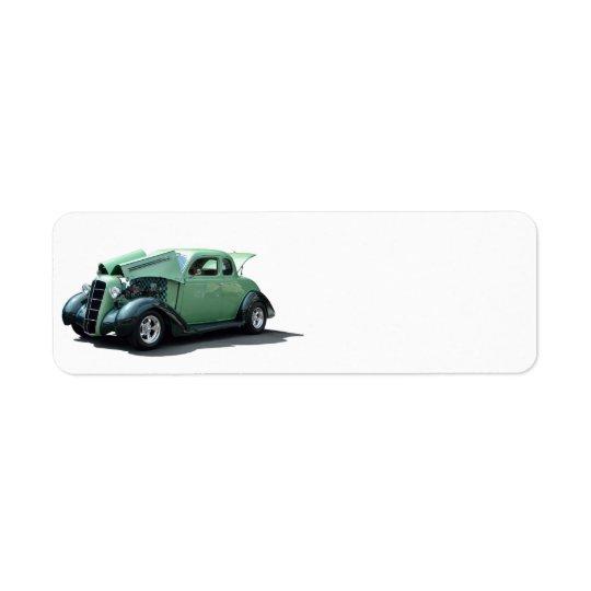 Vintage Automobile Return Address Label