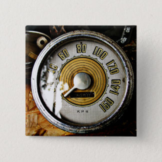 Vintage automobile speed gauge 15 cm square badge
