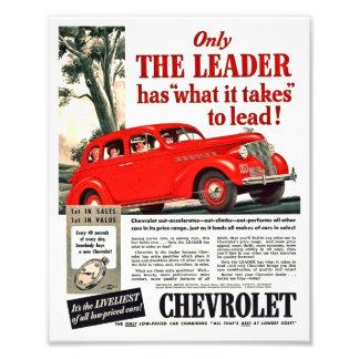 Vintage Automotive Print - Chevy 1939 Ad Artwork Photograph