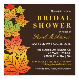 Vintage Autumn Maple Leaf Invitation Bridal Shower