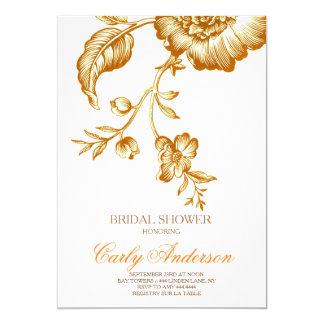 Vintage Autumn Rose Bridal Shower Invitation