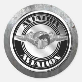 Vintage Aviation Art Classic Round Sticker