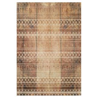 Vintage Aztec Tribal Wood Wood Poster