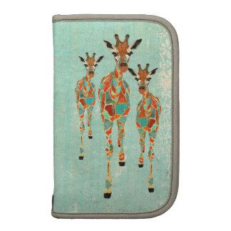 Vintage Azure Amber Giraffes Planner