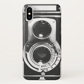 Vintage b&w Camera iPhone X Case