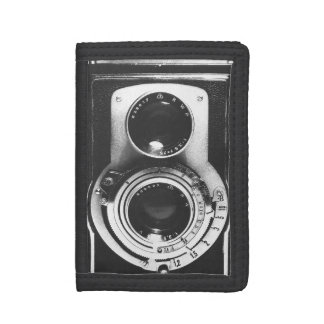 Vintage b&w Camera Trifold Wallet