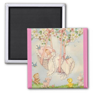 Vintage Baby and Carriage Refrigerator Magnet