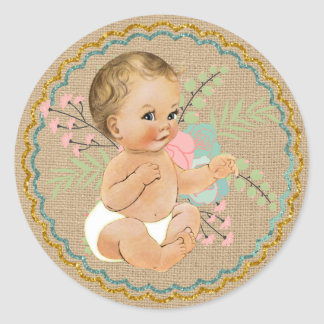 Vintage Baby and Mason Jar Sticker