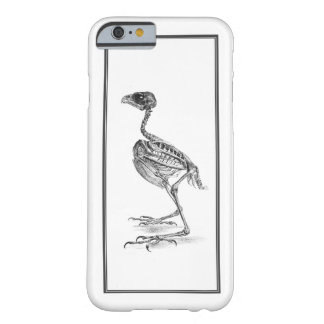 Vintage baby bird skeleton etching barely there iPhone 6 case