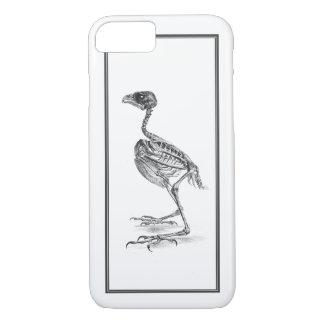 Vintage baby bird skeleton etching iPhone 7 case