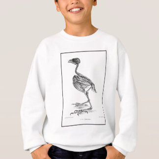 Vintage baby bird skeleton etching sweatshirt
