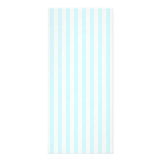 Vintage Baby Blue Pastel Colors Stripes Pattern Custom Rack Cards