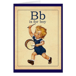 Vintage Baby Boy Greeting Card