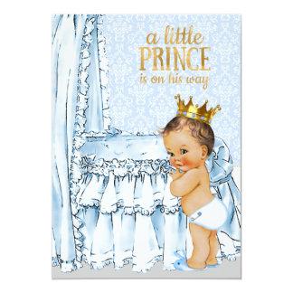 Vintage Baby Boy Prince Baby Shower Invitation