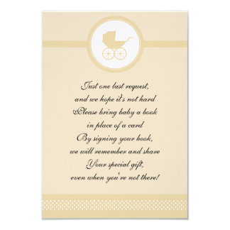Vintage Baby Carriage Baby Shower 9 Cm X 13 Cm Invitation Card