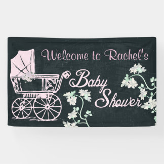 Vintage, Baby Carriage, Baby Shower Banner