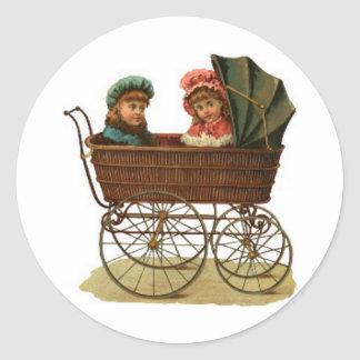 Vintage Baby Carriage Stickers