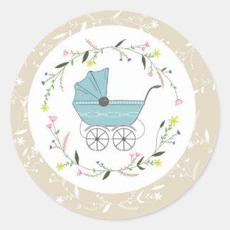Vintage Baby Classic Round Sticker